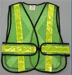 Seams mesh traffic vest.