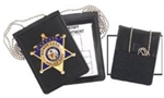 Ontario Corrections Badge ID Holder with chain