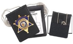 York Police Badge ID Holder with chain