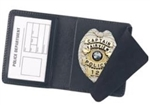 York Police Side Open Badge Case