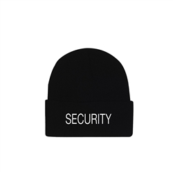 Security Embroidered Watch Cap